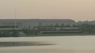 pentagon building with potomac river below