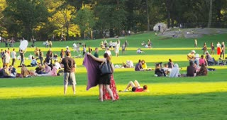 People Enjoying Central Park