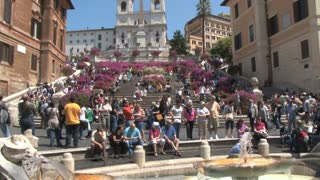 People Gathering on the Spanish Steps Tilt
