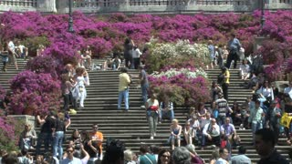 People Gathering on the Spanish Steps