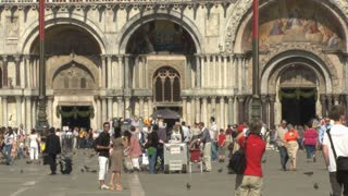 People in Front of St. Mark's Cathedral 2