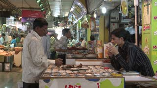 People in Spice Market in India