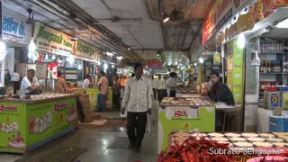People Inside Spice Market in India