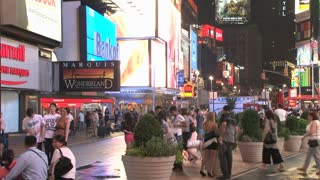 People Mingling in Times Square Street 2