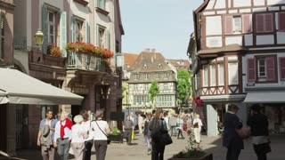 People on Colmar Alsace France Street