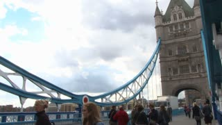 People On Tower Bridge Walkway