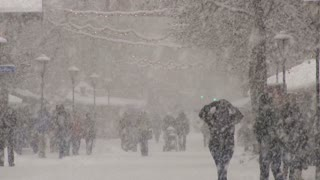 People Outisde In Snow Storm 2