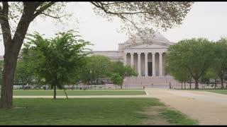 People Walking Around Smithsonian