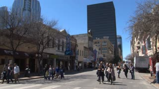 People Walking Downtown Austin