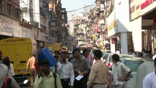 People Walking in Crawford Market in South Mumbai