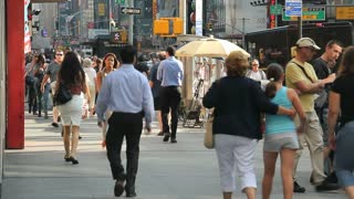 People Walking in NYC