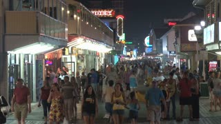 People Walking on Ocean City Maryland Boardwalk at Night 6