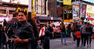 People Walking Times Square