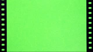 Perforation of Film on Green Screen