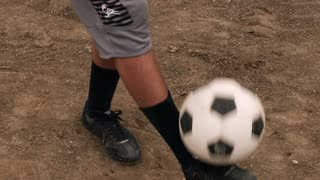Person Juggling Soccer Ball in Slow Motion 2