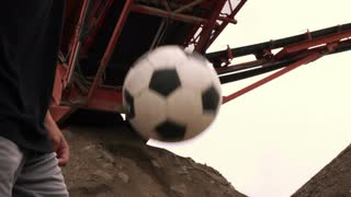 Person Juggling Soccer Ball in Slow Motion 3