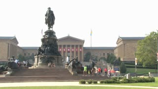 Philadelphia Museum of Art and Statue