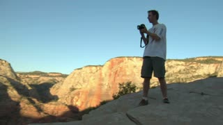 Photographer Taking Photos In National Park