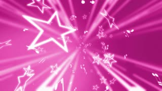 Pink Stars and Music Notes