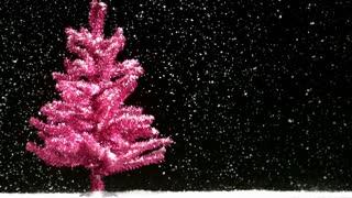 Pink Tree Snowfall