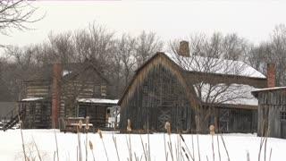 Pioneer Barn Snow