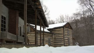 Pioneer Village Porch Snow