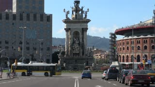 Placa dEspanya Fountain in Barcelona Spain 2