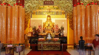 Place of worship Thean Hou Chinese Temple, Kuala Lumpur, Malaysia, Southeast Asia, Asia, Time lapse