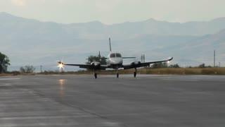 Plane Cruising Down Runway Afer Landing
