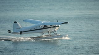 Plane driving in the water