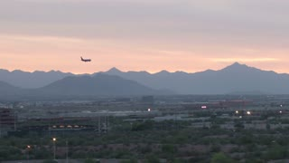 Plane Flying Over Phoenix Arizona