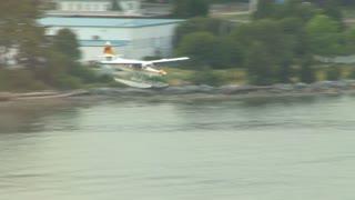Plane Landing At Port