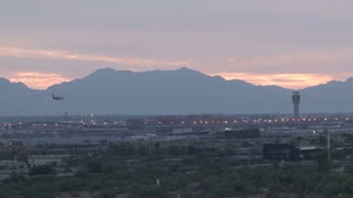 Plane Landing at Sky Harbor Airport in Phoenix