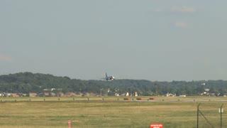 Plane Landing Close up