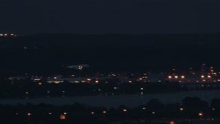 Plane landing in lightning