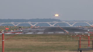 Plane Landing on Runway 2