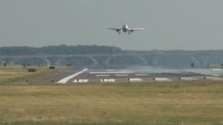 Plane Landing onto Runway Slowly