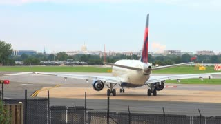 Plane Sitting on Runway at Reagan National Aiport