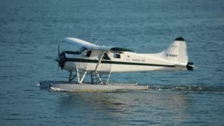 Plane turning in water