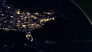 Planet Earth - Dawn Breaks Over America