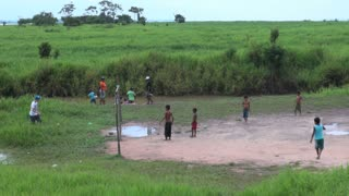 Playing Soccer On Field