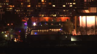 Police Lights Nighttime Vail