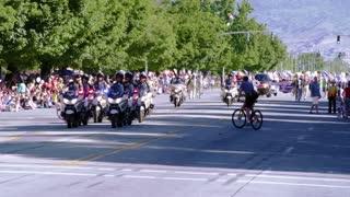 Police Motorcade in Parade