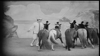Ponies Performing in Vaudeville Show