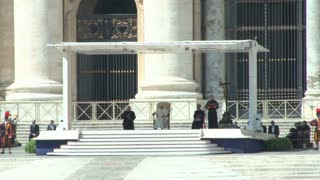 Pope at St Peters Basilica