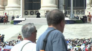 Pope in St. Peters Square