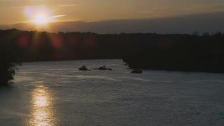 Potomac River Sun Setting