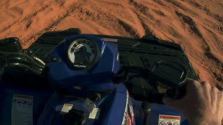 Pov Atv Riding On Sand Dunes