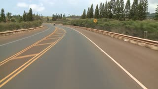 POV Driving In Car Through Maui