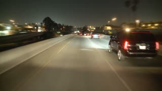 POV Driving LA Freeway